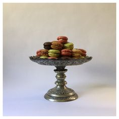 vintage turn of the century confectionery cake stand, Louis Sherry NYC... ($135) ❤ liked on Polyvore featuring home, kitchen & dining and serveware