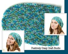for SALE - #44 SMERF / Adult size - circumference 18-22 in. / 46-54 cm / fluffy Acrylic /  Price: $28 includes shipping within the US $32 includes shipping to anywhere on earth  #crochet #hat #handmade #BasiasHatFactory