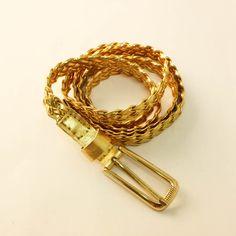 Metallic Gold Skinny Belt Skinny Belt, Metallic Gold, Bracelets, Jewelry, Jewlery, Bijoux, Schmuck, Jewerly, Bracelet