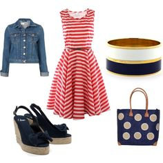 Red, white and blue, created by shortnsweet21 on Polyvore