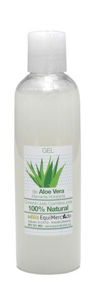 Gel puro de Aloe Vera. 200 ml. Producto certificado 100% natural Gel puro de aloe vera. Únicamente incorpora espesante natural y aromas naturales para facilitar su aplicación. Refresca y repara la piel después de la depilación, afeitado...