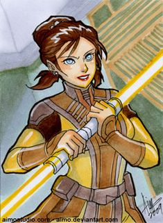 PSC - Bastila Shan by aimo on DeviantArt Star Wars The Old, Jedi Sith, Star Wars Games, The Old Republic, Jedi Knight, I Really Love You, Love Stars, Dragon Age, Disney Characters