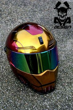 Casque moto iron-man