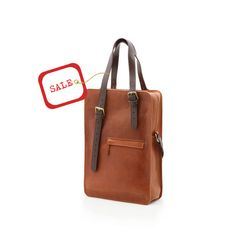 Tote Leather Bag, Two different designs into one Unisex Leather Bag, Handbag, Cross body, & Shoulder Bag