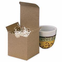 Kraft One-Piece Gift Boxes, 3 x 3 x 3