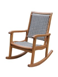 Rocking Chair with Wicker