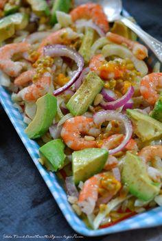 Salade Fenouil,Avocat,Crevettes,Oignons Rouges,Passion 3