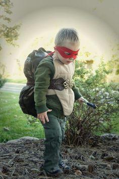 selbstgemachtes kostüm kinder idee turtle ninja jacke gürtel