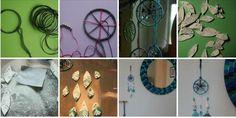 DIY a #dreamcatcher with old bracelets, woollen yarn and DAS