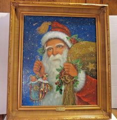 Christopher Radko Old Saint Nick Oil Painting. This paintings was commissioned in a limited edition by Christopher Radko. Comes with Certificate of Authenticity (COA). The COA is in envelope at back of work. | eBay!