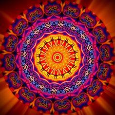 abondance ; abundância ; abundență ; abundance ; ความอุดมสมบูรณ์ Mandala de Pierre Vermersch