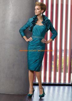Billige Kurz Abendkleider im Kolumnestil mit Bolero online 2013