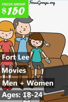 Fieldwork Fort Lee is looking for Men and Women with kids 6-9 to join us for an upcoming discussion on the topic of Movies. We will pay $150 VISA CARD to those people who qualify and are invited to join us for a 90 minute discussion on Mon, 7/17 or Tues, 7/18. If you are interested in participating, please sign up and take the survey to see if you qualify or call 201-242-5720 (Press Option 1) and ask for Megan!