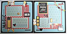 Premade Scrapbook Pages using Say Cheese line - For Sale on eBay