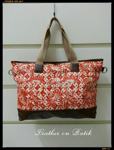 Handmade Tote Bag Made from Batik & Leather