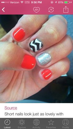 Great nails for a UGA game!