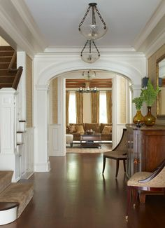 Foyer decorating ideas entry traditional with white pillar front porch screened porch eyebrow windows