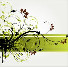 Floral Swirl Vector Background