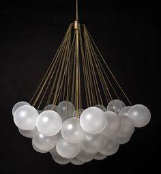 via BKLYN contessa :: apparatus studio :: cloud 37 orb Interior Lighting, Home Lighting, Lighting Design, Studio Lighting, Custom Lighting, Unique Lighting, Apparatus Lighting, Pendant Lighting, Light Pendant