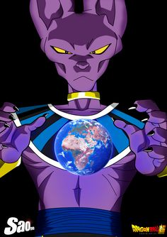Beerus the Power of the God of Destruction by SaoDVD on @DeviantArt