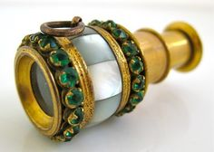 Early 1800's French Georgian Ladies Miniature Chatelaine Spyglass/Telescope