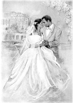 Wedding Illustration, Couple Illustration, Retro Illustration, Illustrations, Wedding Shower Cards, Wedding Cards, Wedding Images, Wedding Pictures, Wedding Drawing