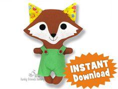Kawaii Kuties - Easy FOX INSTANT DOWNLOAD Sewing Pattern PDF