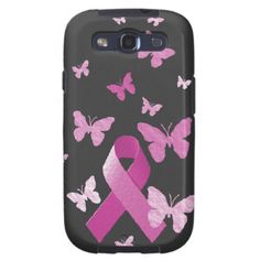 SOLD #Pink #Awareness #Ribbon Galaxy S3 Cover I want one of these for my phone! $47.60 #breastcancerawareness
