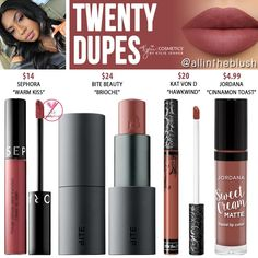 I have another Kylie Cosmetics Liquid Lipstick dupe to share with you! - I have another Kylie Cosmetics Liquid Lipstick dupe to share with you! The next shade up on the dup - Lip Art, Lipstick Art, Lipstick Dupes, Liquid Lipstick, Lipsticks, Eyeshadow Dupes, Lipstick Colors, Neutral Lipstick, Kylie Lipstick