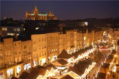 Christmas Market on Saint Louis square, Metz, France  source