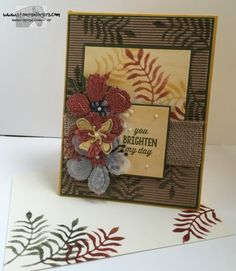 handmade card by Mary Deatherage ... neutral colors ... kraft and burlap ... stamping and die cuts ... Stampin' Up!