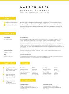great resume design darren beer cv on behance designspiration - Great Resume