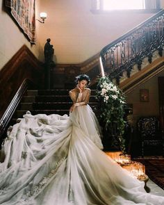 Singer Dizzy Dizzo 蔡詩芸 in an Haute Couture Week gown for her wedding photos