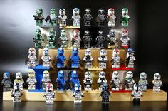Photo courtesy of Xero_Fett As a minifigure and custom minifigure collector we can really appreaciate how amazing this Star Wars Republic Commando Collection is Lego Custom Clones, Lego Clones, Custom Lego, Star Wars Clone Wars, Star Wars Art, Lego Star Wars, Lego Custom Minifigures, Lego Minifigs, Star Wars Commando