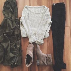 edfguj-l-610x610--outfit-forever+21-grey+sweater-knitted+sweater-fall+outfits-sweater-soft+grunge-cute-cute-jacket-boots-army+green+jacket-black+jeans.jpg 610×610 piksel