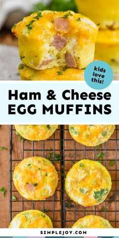 These Ham and Cheese Egg Muffins are such an easy delicious breakfasts on the go. Made with simple ingredients, and easy to freeze, your family will love these muffin tin eggs. Brunch Recipes, Soup Recipes, Cooking Recipes, Free Recipes, Keto Recipes, Recipies, Healthy Recipes, Breakfast Dishes, Breakfast Recipes