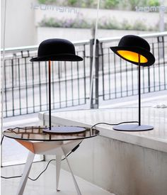 Really cool find of the day: Hat Table Lamp by Jake Phipps #decor #lighting