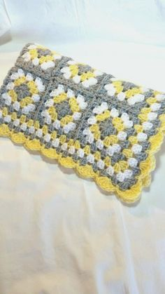Crochet Baby Blanket Granny Square Baby Blanket Gray Grey We are want to say tha. Crochet Baby Blanket Granny Square Baby Blanket Gray Grey We are want to say thanks if you like to Point Granny Au Crochet, Crochet Squares, Crochet Blanket Patterns, Baby Blanket Crochet, Crochet Stitches, Knitting Patterns, Motifs Granny Square, Granny Square Blanket, Granny Squares