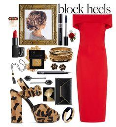 """Classy Block Heels"" by randomgirl03 ❤ liked on Polyvore featuring Prada, Cushnie Et Ochs, Chantecler, Marni, 1928, NARS Cosmetics, Forever 21, Christian Dior, Amrita Singh and Dolce&Gabbana"