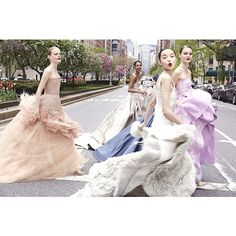 vogue instagram ball gowns3 Hanne Gaby Odiele, Xiao Wen Ju + More Prep for Met Gala in Vogue Instagram Shoot