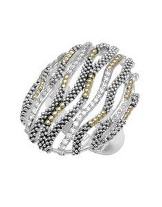 LAGOS Soiree Diamond Beaded Statement Ring