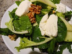 Gojee - Warm Goat Cheese Salad with Apples and Walnuts by Ling Li Eats