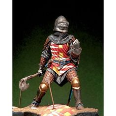 French Knight at Poitiers - Art Girona White Metal Figures