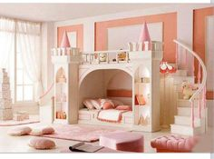 Princess bunk beds i would love this if i was little