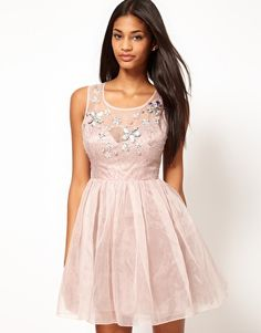 Lipsy VIP Gem Embellished Prom Dress