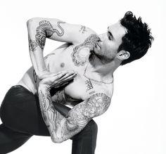 Adam Levine + yoga