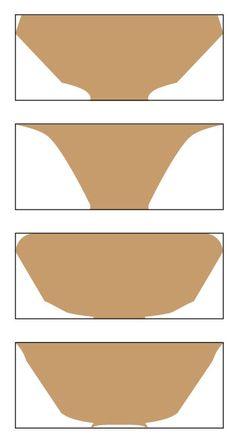 Wood Bowl Exterior Straight Edge Connecting Foot to Rim