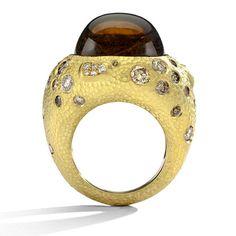 Gold & Tourmaline Ring. Want.