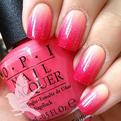 Photo by sparrownails #ombre #gradient #pink