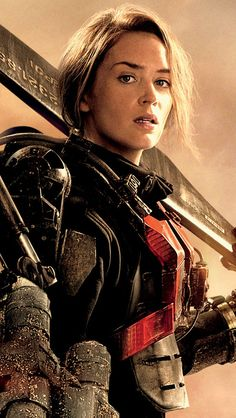 Emily Blunt in 'Edge Of Tomorrow' is honesty so hot. They could not have picked a better actress to play her role.   http://www.nydailynews.com/entertainment/movies/actress-emily-blunt-talks-edge-tomorrow-role-article-1.1812867